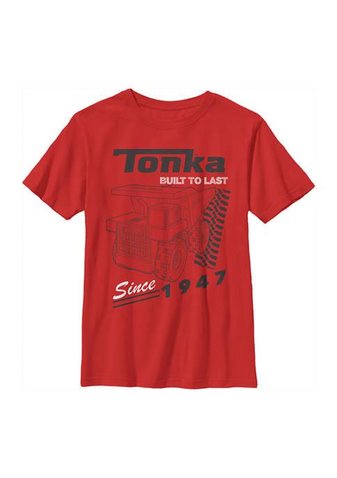 Boys 4-7  Yellow Trucks Graphic T-Shirt