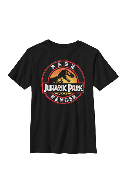 Jurassic Park Ranger Danger Orange Gradient Icon Crew
