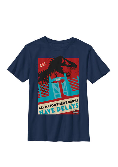Jurassic Park Delays Simple Gate Crew Graphic T-Shirt