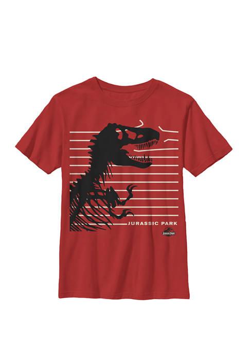 T-Rex Broken Fence Crew Graphic T-Shirt