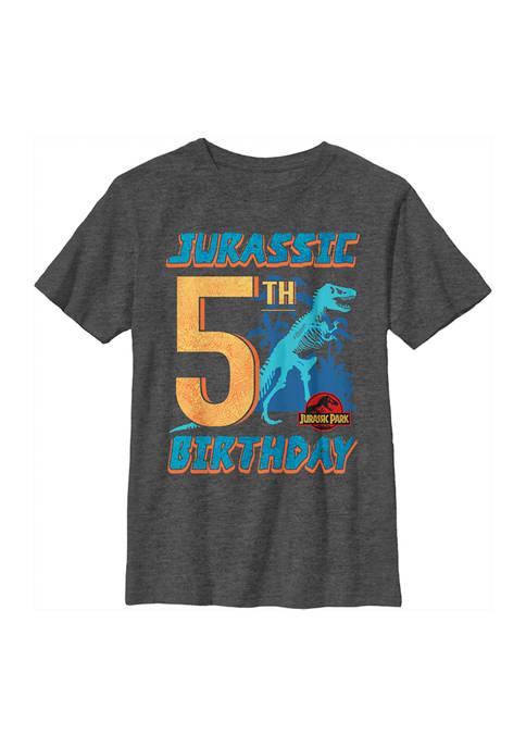 Jurassic Park Boys 4-7 Jurassic 5th Birthday Graphic