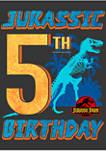 Boys 4-7  Jurassic 5th Birthday Graphic T-Shirt