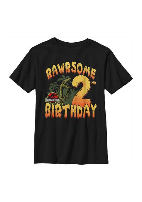 Jurassic Park Boys 4-7 Rawrsome 2nd Birthday Graphic