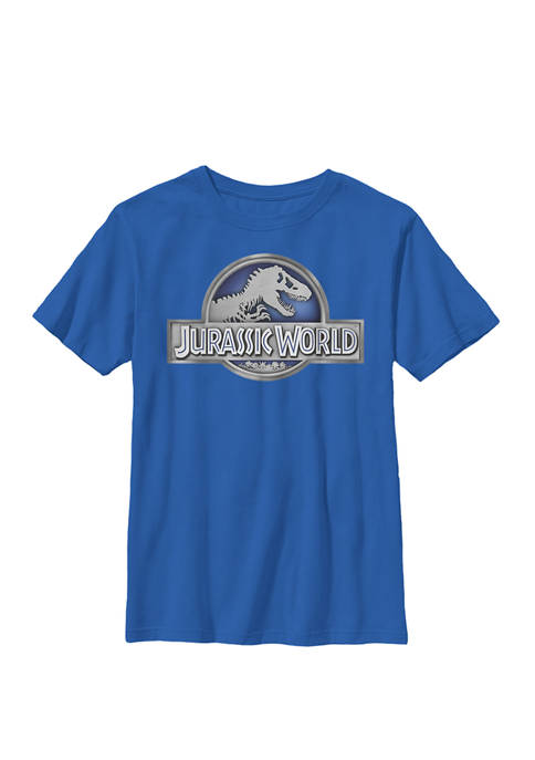 Jurassic World Classic Metal Coin Logo Crew Graphic