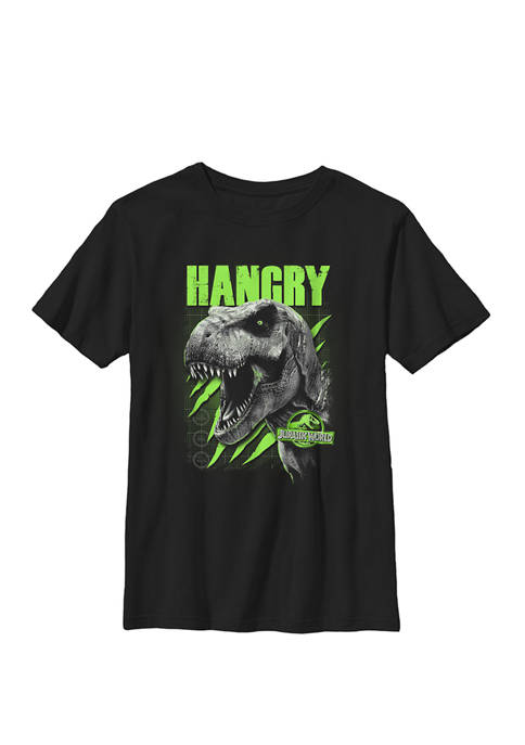 HANGRY Green T Rex Claw Marks Crew Graphic T-Shirt