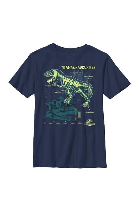 Jurassic World Tyrannosaurus Rex Blue Print Style Crew