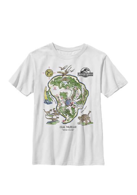 Isla Nublar Map Crew Graphic T-Shirt