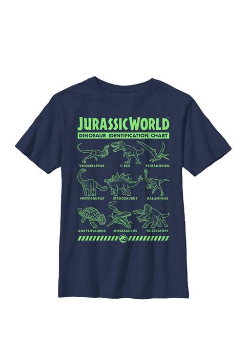 Jurassic World Two Dino Gradient ID Chart Crew