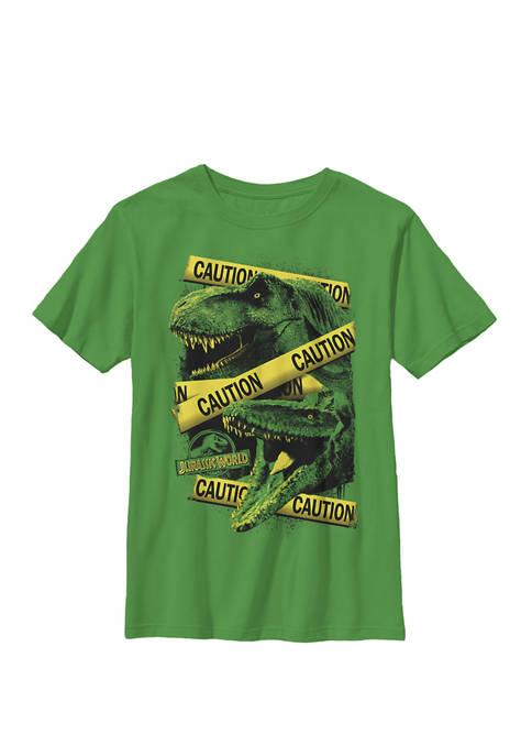 Jurassic World Two Dinosaur Caution Splatter Crew Graphic