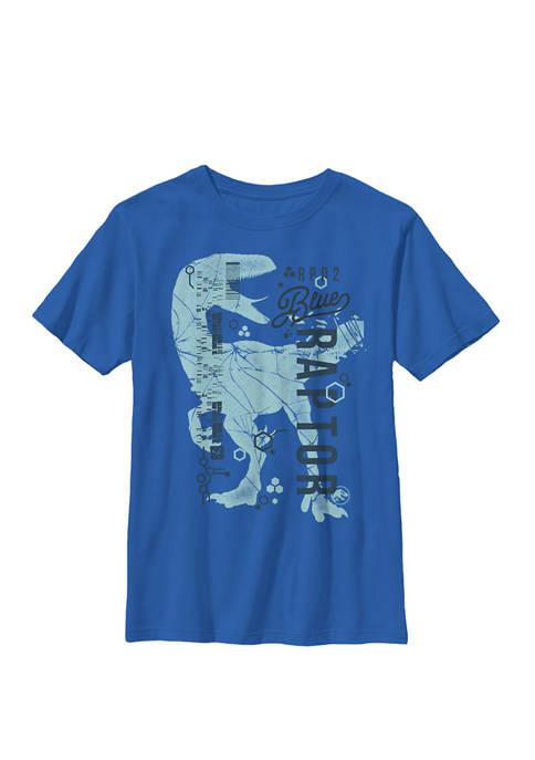 Jurassic World Two Blue Raptor DNA Code Silhouette