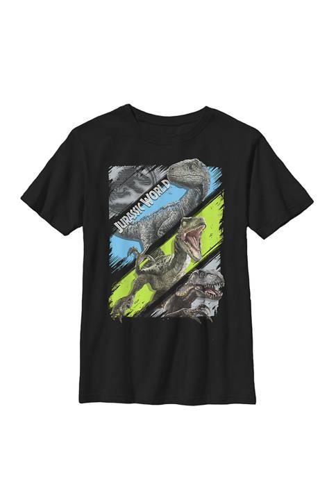 Two All The Predators Crew Graphic T-Shirt