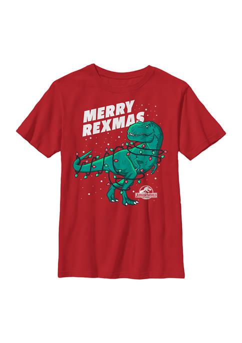 Jurassic World Boys 4-7 Merry Rexmas Graphic Top
