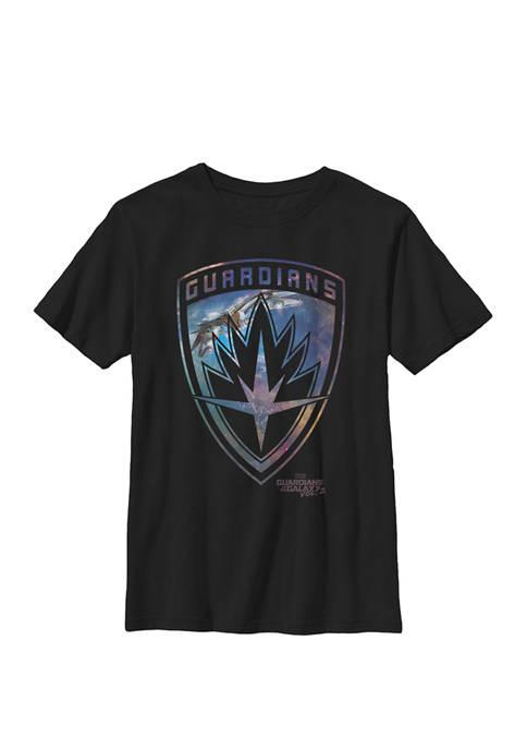 Guardians of Galaxy 2 Milano Shield Crew Graphic T-Shirt