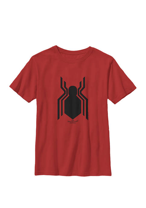 Spider-Man Homecoming Official Logo Crew Graphic T-Shirt