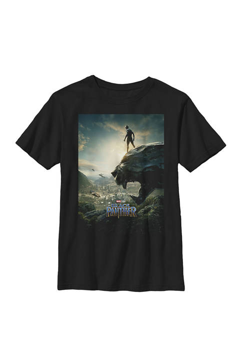 Black Panther Cliff Movie Poster Crew Graphic T-Shirt