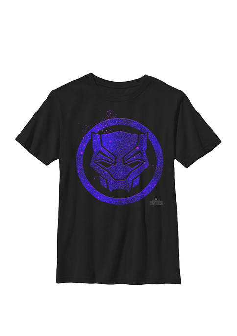 Black Panther Movie Purple Splatter Icon Crew Graphic