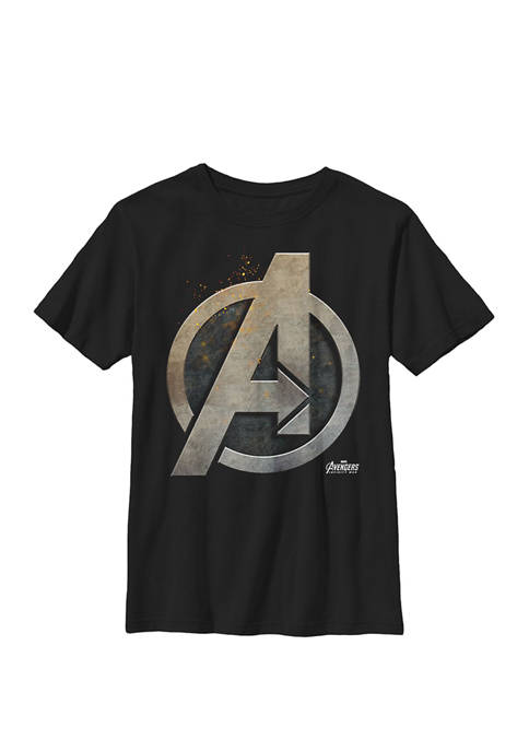 Avengers Infinity War Steel Symbol Crew Graphic T-Shirt