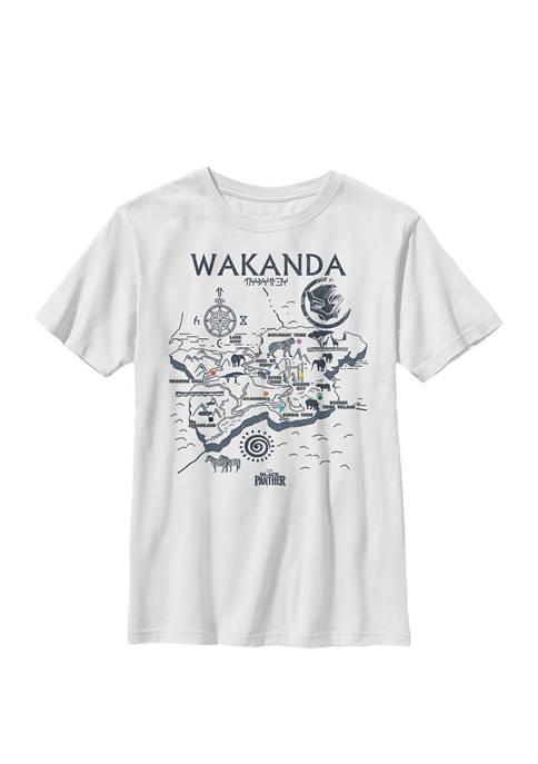Black Panther Kingdom of Wakanda Map Crew Graphic