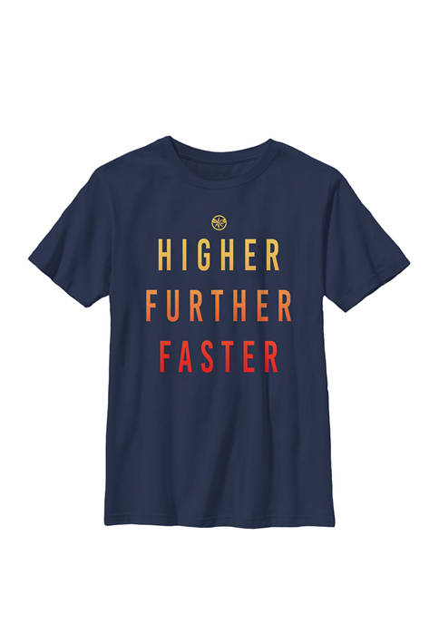 Captain Higher Further Faster Crew Graphic T-Shirt