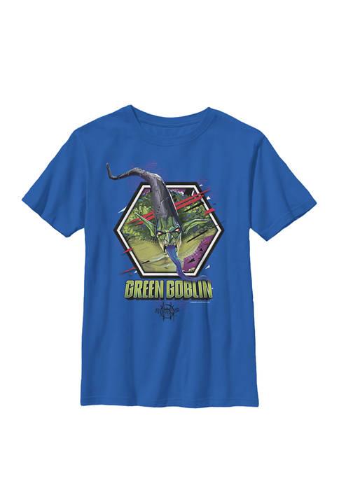Spiderverse Green Goblin Hexagon Crew Graphic T-Shirt
