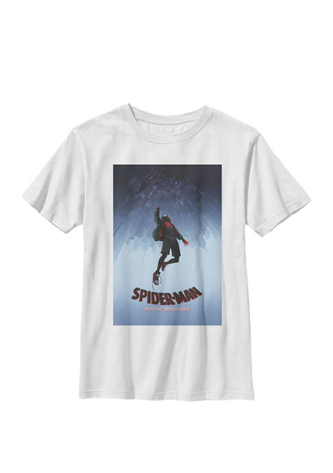 Spiderverse Upside Down City Poster Crew Graphic T-Shirt