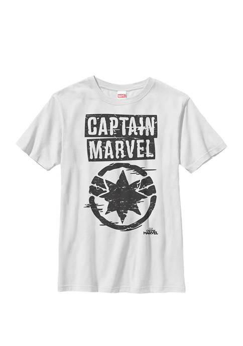 Captain Painted Circle Logo Crew Graphic T-Shirt