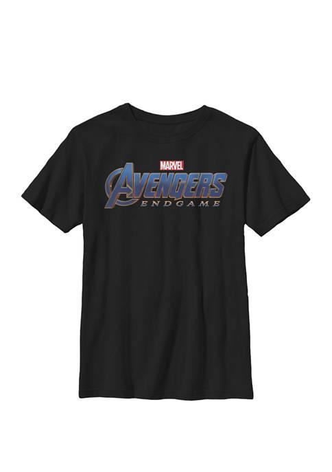 Avengers Endgame Movie Logo Crew Graphic T-Shirt