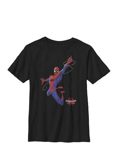 Spider-Man Spiderverse Classic Swing Fleece Crew Graphic T-Shirt