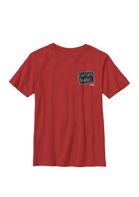 Captain Bold Tie Dye Movie Logo Crew Graphic T-Shirt