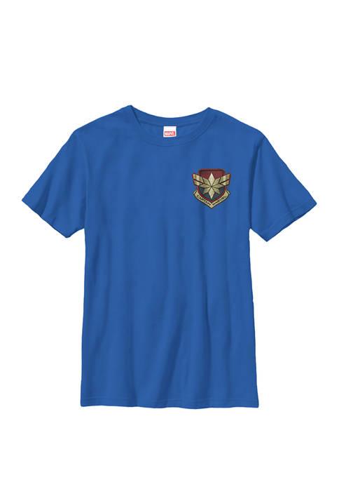 Captain Movie Stitched Badge Crew Graphic T-Shirt