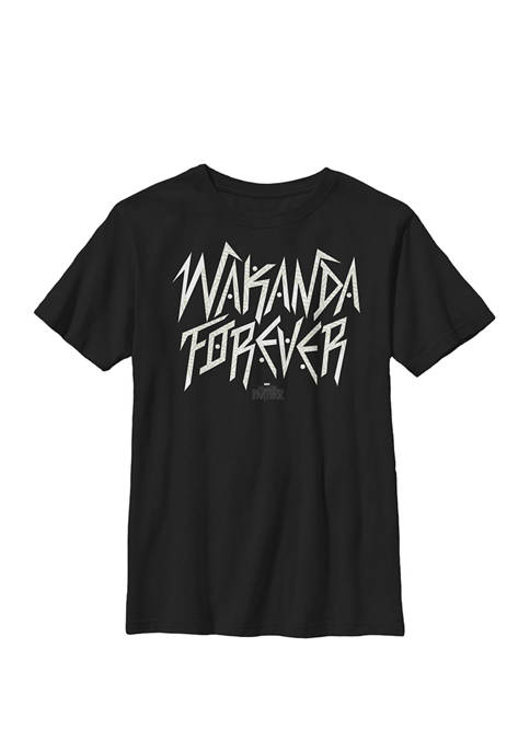 Boys 8-20 Black Panther Wakanda Forever Jagged Letters