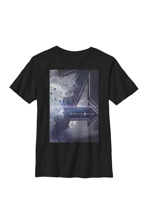 Boys 8-20 Avengers Endgame Movie Poster Graphic T-Shirt