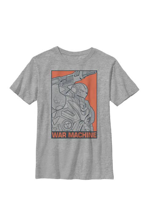 Boys 8-20 Avengers Endgame War Machine Pop Art Graphic T-Shirt