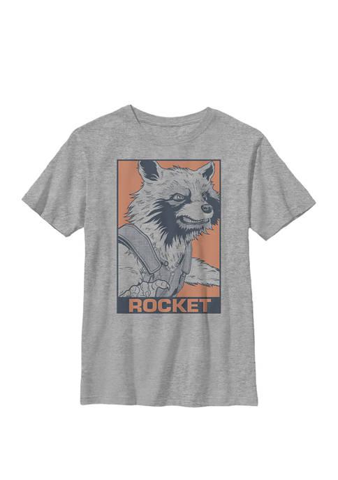 Boys 8-20 Avengers Endgame Rocket Pop Art Graphic T-Shirt