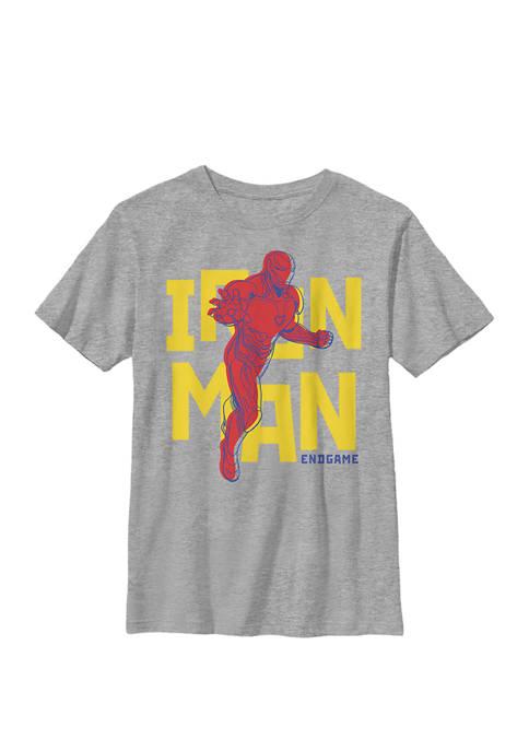 Boys 8-20 Endgame Iron Man Suit Bold Text Graphic T-Shirt