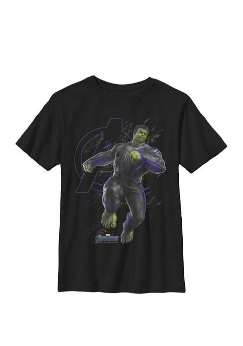 Boys 8-20 Avengers Endgame Hulk Logo Graphic T-Shirt
