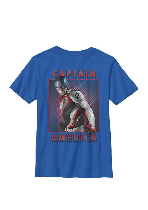 Boys 8-20 Avengers Endgame Captain America Solo Graphic