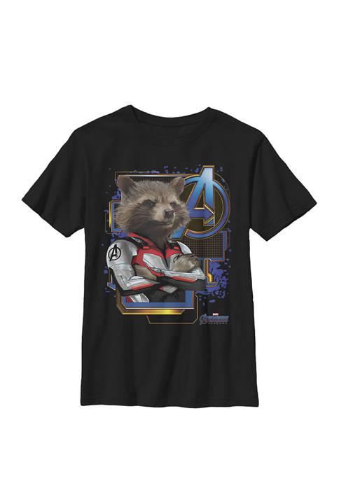 Boys 8-20 Avengers Endgame Rocket Logo Graphic T-Shirt