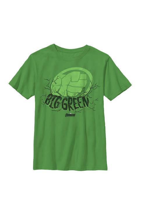 Boys 8-20 Avengers Endgame Hulk Big Green Stamp
