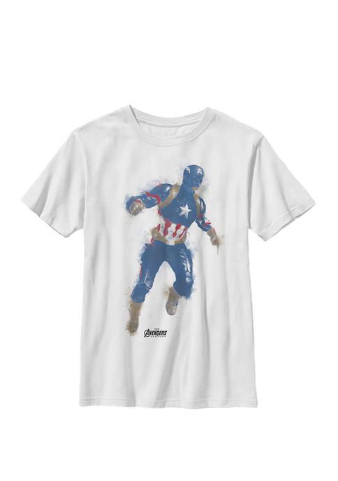 Boys 8-20 Avengers Endgame Captain America Paint Graphic T-Shirt