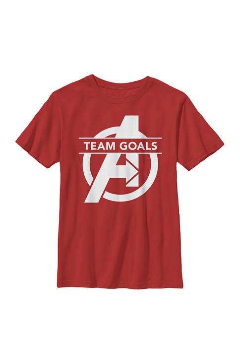 Boys 8-20 Avengers Endgame Team Goals Logo Graphic