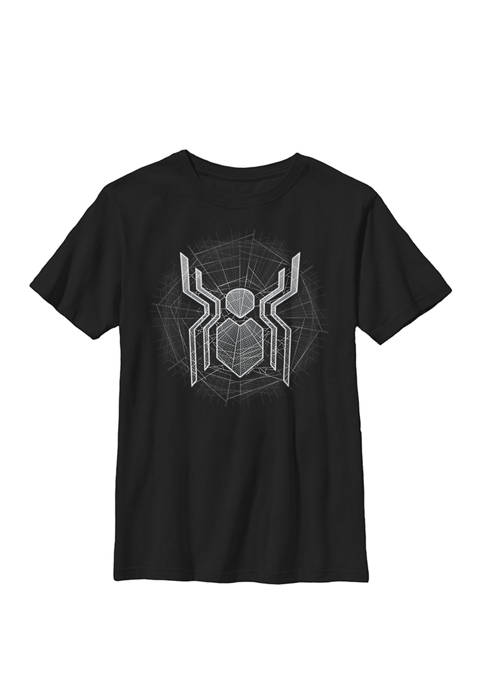Boys 8-20 Spider-Man Far From Home Web Spider Chest Logo Graphic T-Shirt