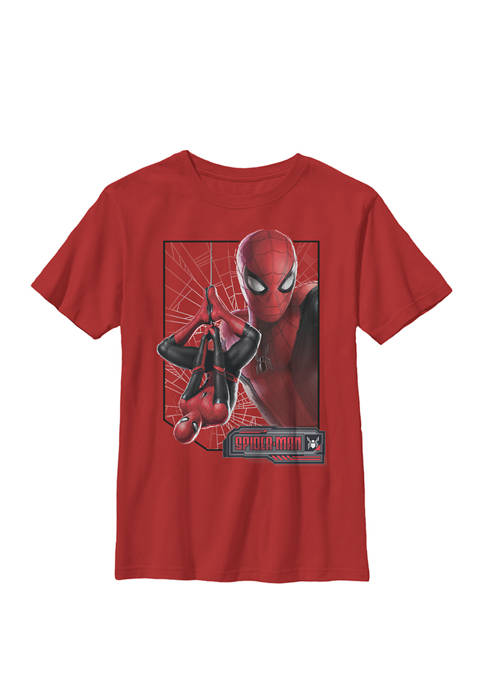 Boys 8-20 Spider-Man Far From Home New Suit Logo Poster Graphic T-Shirt