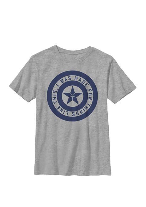 Boys 8-20 Avengers Endgame Captain America Quote Graphic T-Shirt