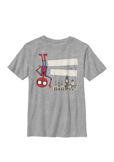 Boys 8-20 Spider-Man Far From Home Hello London Portrait Graphic T-Shirt