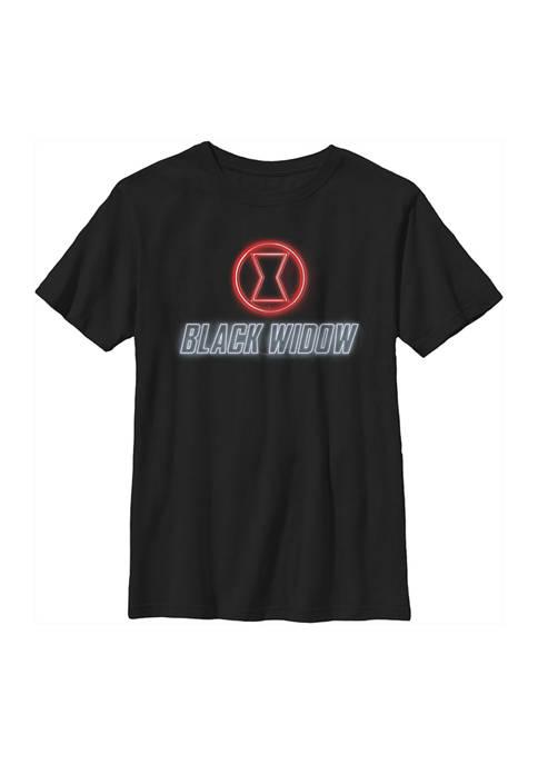 Boys 4-7 Black Widow Neon Graphic T-Shirt