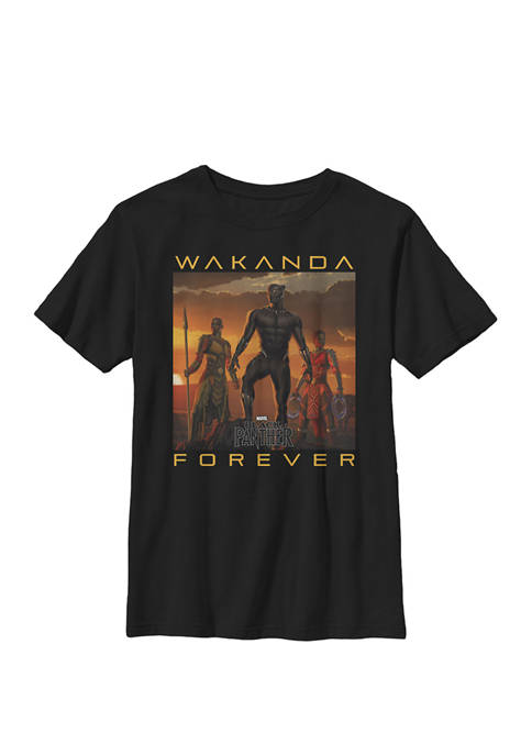 Boys 8-20 Black Panther Movie Wakanda Forever Graphic