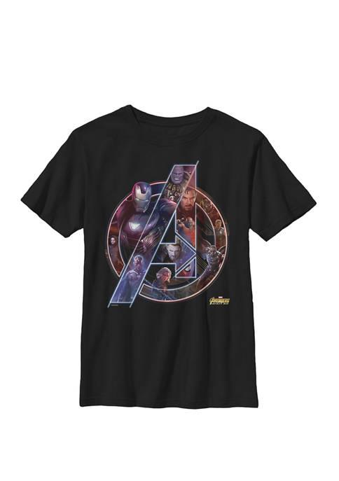 Boys 8-20 Avengers Infinity War Neon Team Graphic