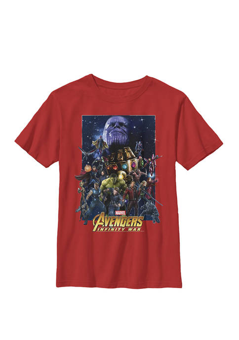 Boys 8-20 Avengers Infinity War Team Assemble Graphic T-Shirt