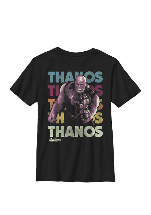 Boys 8-20 Infinity War Thanos Retro Rainbow Graphic